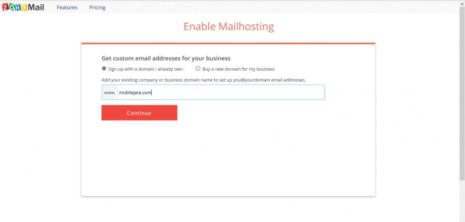 ZohoMail Hosting